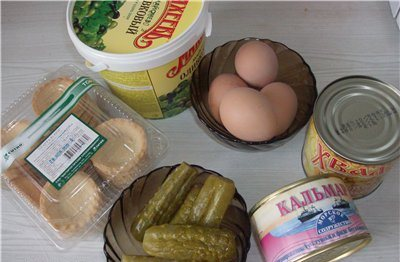 Рецепт Тарталетки с кальмарами