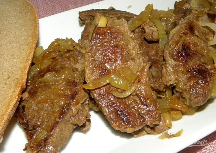 Рецепты сковороде на печень с луком Говяжья great trend