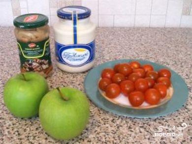 Рецепт Салат из маринованных грибов