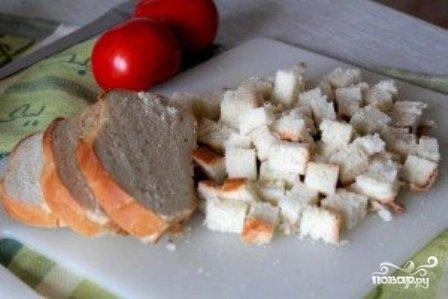 Томатный суп с сухариками - фото шаг 7