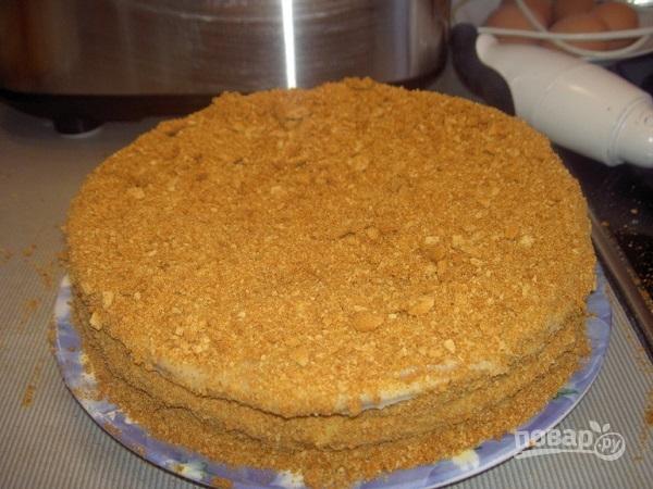 Медовый торт на водяной бане - фото шаг 10