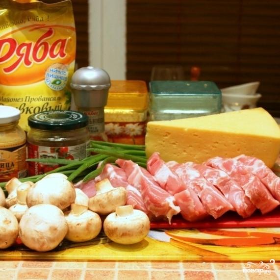 Рецепт Рулетики из свинины, запеченные в духовке