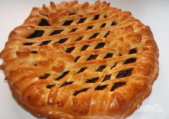 рецепт пирога с вареньем в духовке на дрожжах