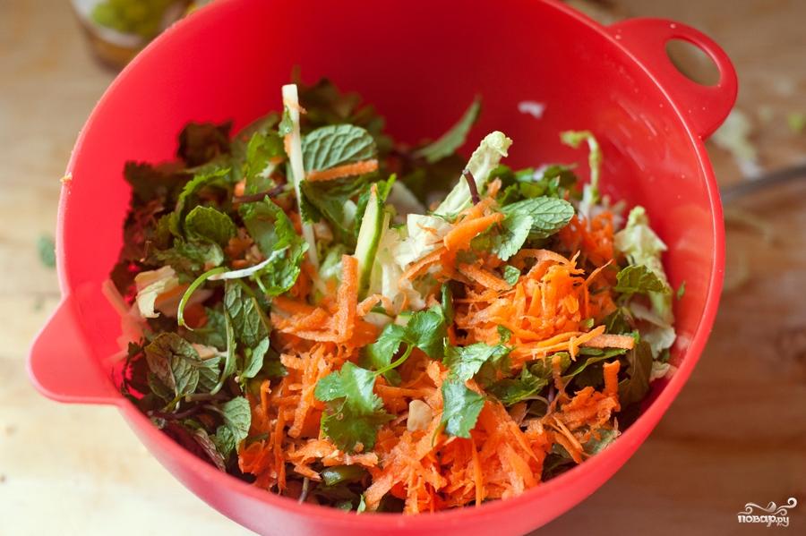 Овощной салат с курицей - фото шаг 2