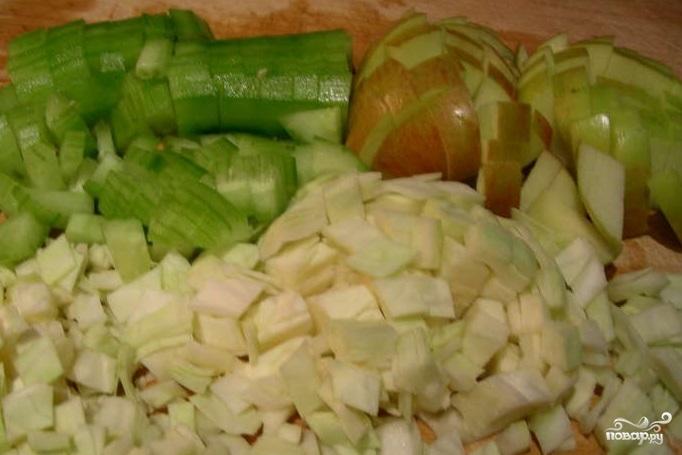 Салат из креветок и капусты - фото шаг 1