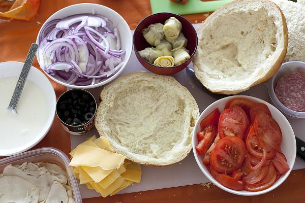 Рецепт Быстрые бутерброды на природу