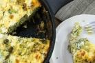 Запеканка с брокколи, и сыром, и грибами