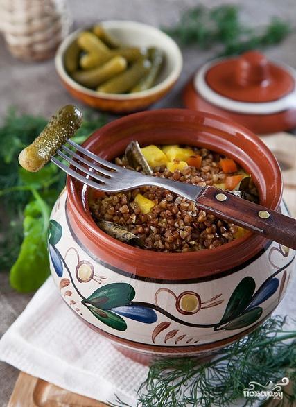 Гречка с овощами и сыром в горшочке - фото шаг 8