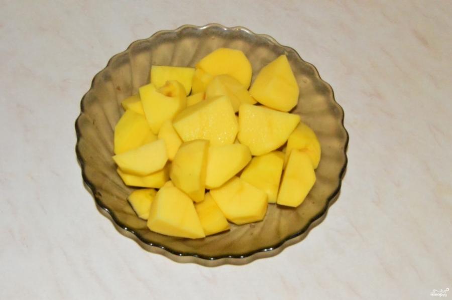 Картофельная запеканка со шпинатом - фото шаг 1