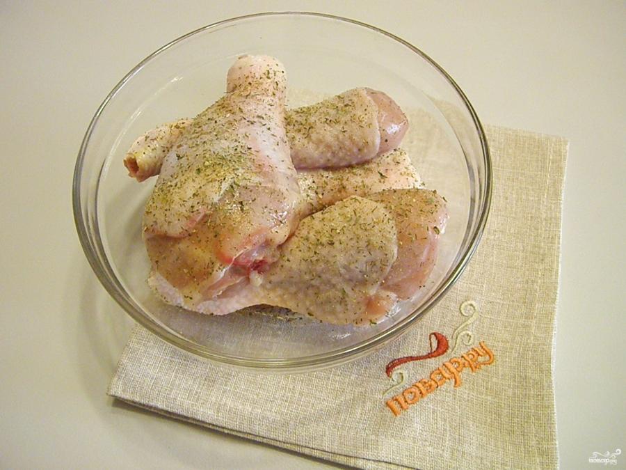 Куриная голень под соусом - фото шаг 2