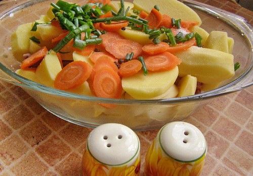 Свиные ребрышки с картошкой - фото шаг 4