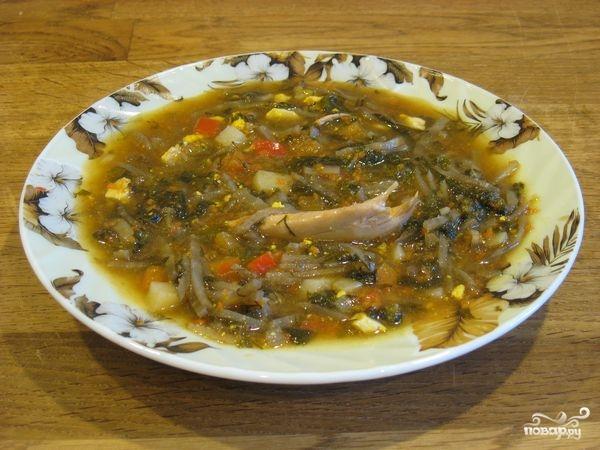 Рецепт Зеленый борщ с томатом