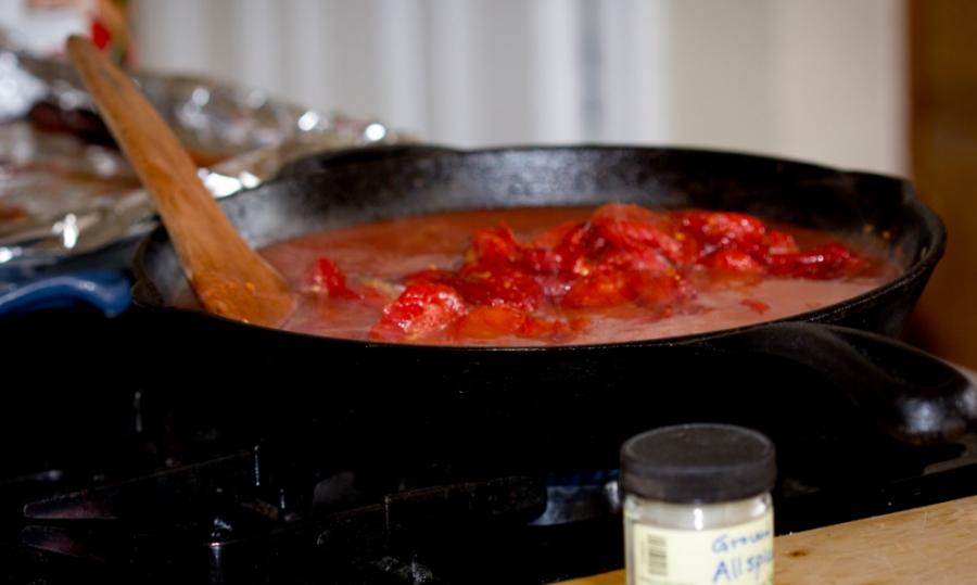Томатный суп из томатного сока - фото шаг 2