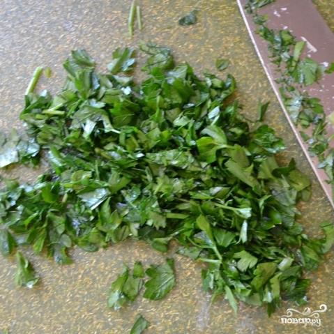 Сытный салат с черноглазкой - фото шаг 7