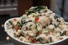 Рис со шпинатом и сыром