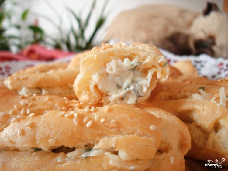 Эклеры с сырной начинкой - фото шаг 9