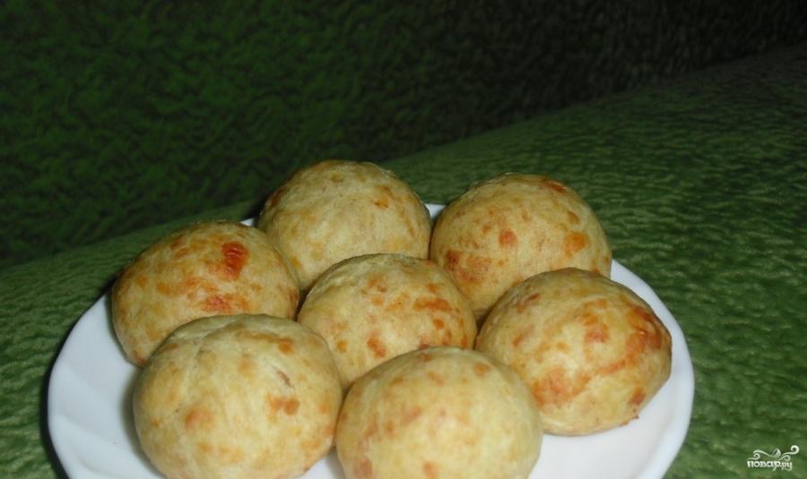 Сырные шарики  в духовке - фото шаг 3