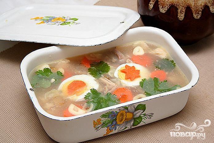 Рецепт Свиной холодец с соусом