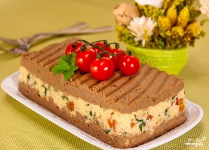 Печеночный паштет с сыром