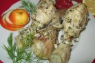 Рецепт курицы с чесночным соусом