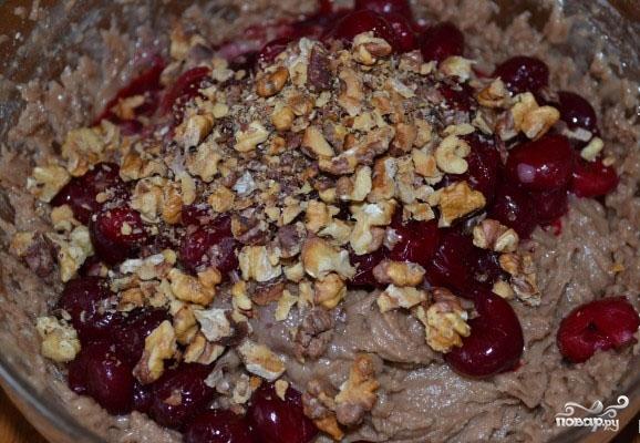Постный кекс с вишней - фото шаг 4