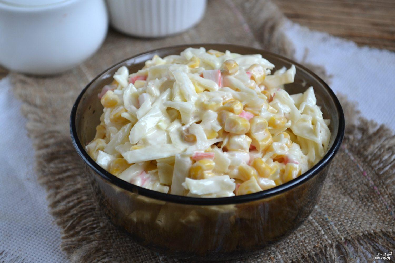 Салат с капустой слоями