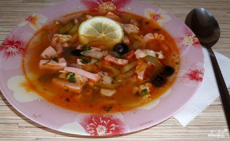 солянка рецепт с фото с мясом
