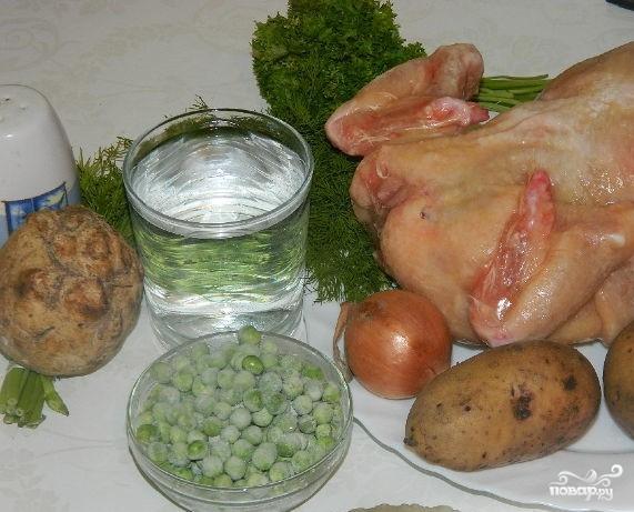 Картофельный суп на мясном бульоне - фото шаг 1