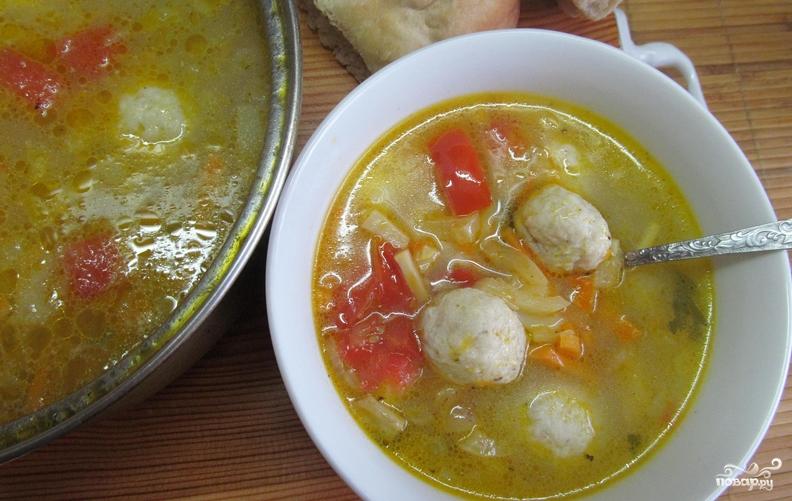 Суп овощной с фрикадельками пошаговый рецепт с