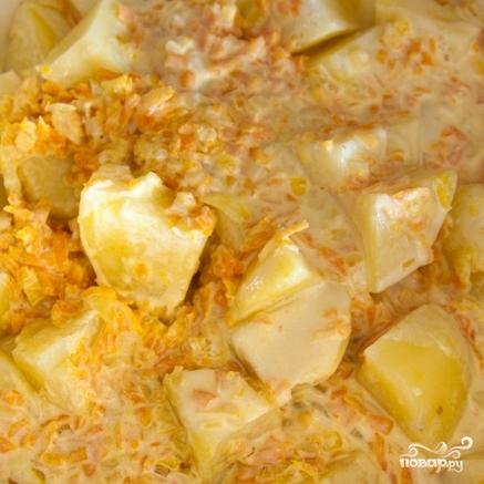 Картофель в соусе Альфредо - фото шаг 10