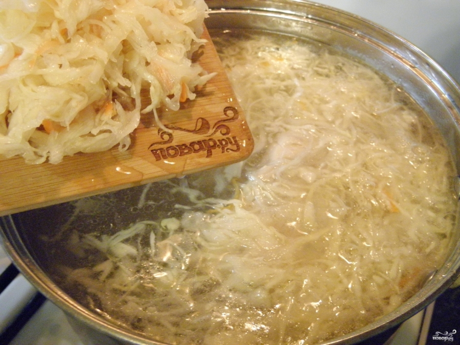 борщ с курицей и квашеной капустой рецепт пошаговый