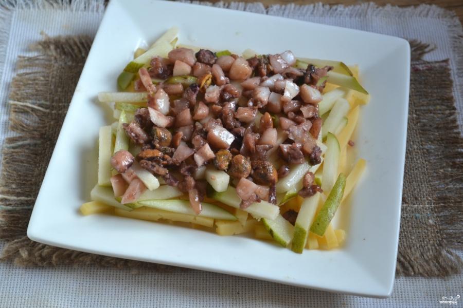 Морской салат с кальмарами и креветками - фото шаг 7