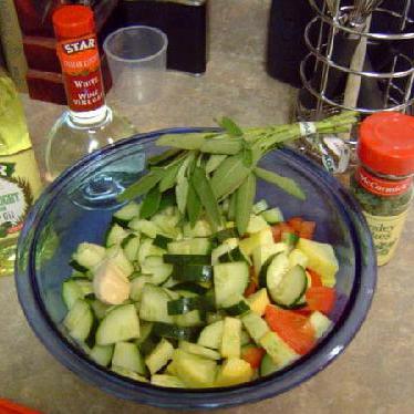 Лингвини с овощами - фото шаг 2