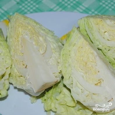 Рецепт Тушеная капуста с беконом