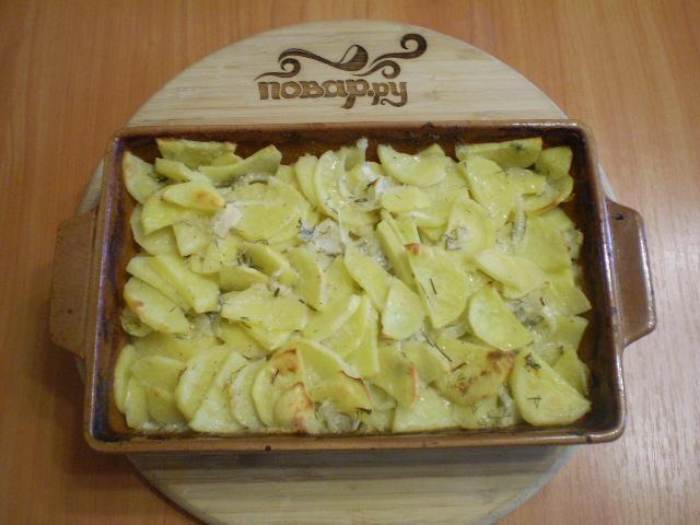 Картошка в кефире в духовке - фото шаг 7