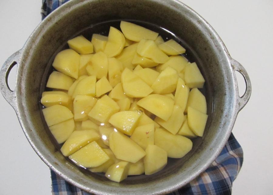 Рецепт Картофельное пюре с шампиньонами