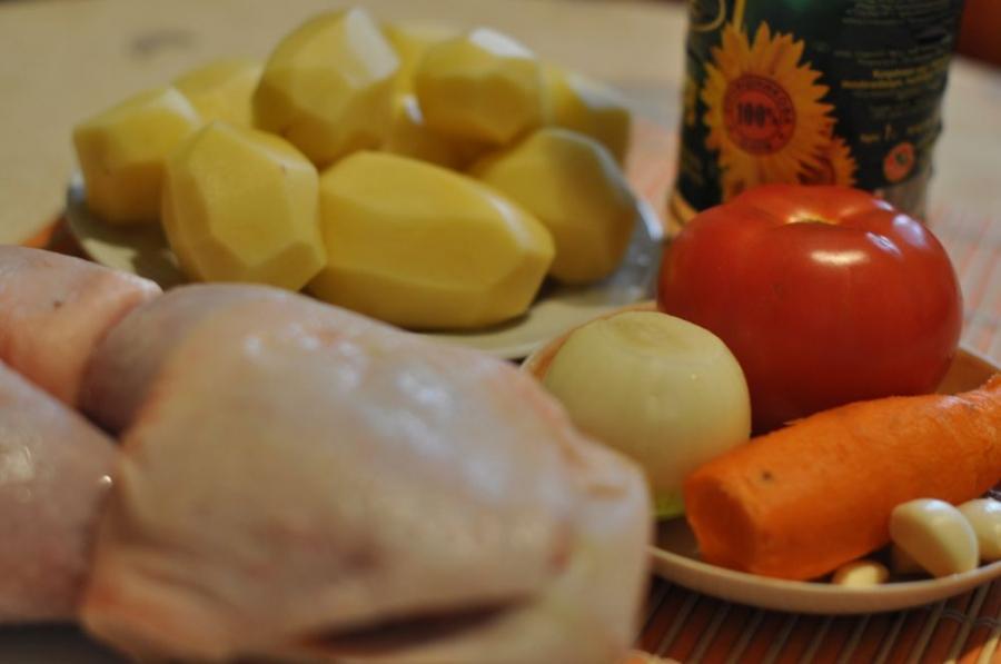 Рецепт Курица с овощами в пакете для запекания