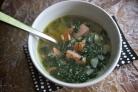 Суп с капустой кале и картофелем