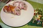 Мясной рулет из свинины с беконом