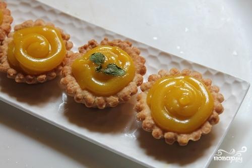 Тарталетки с лимоном