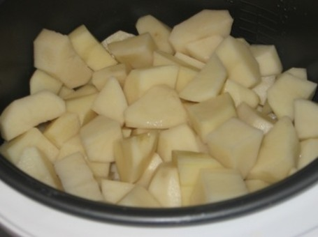 Рецепт Картошка с шампиньонами в мультиварке