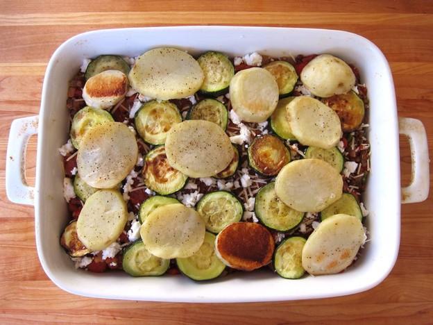 Мусака овощная запеченная - фото шаг 8