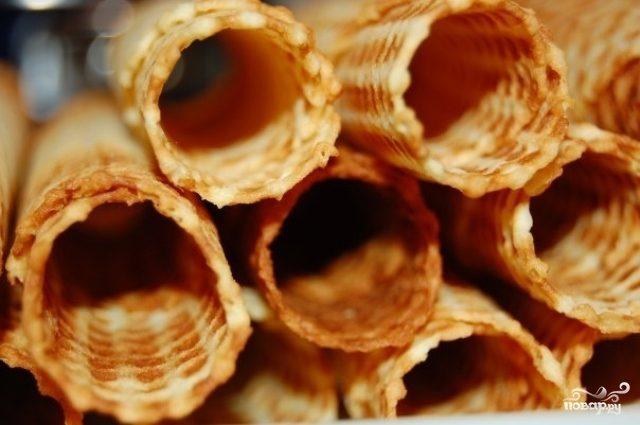 Хрустящие вафельные трубочки