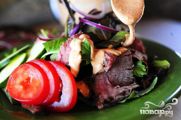 Салат со стейком и овощами - фото шаг 6