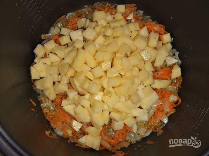 Гороховый суп на копченых ребрышках - фото шаг 3