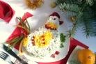 Салат Петушок с сухариками