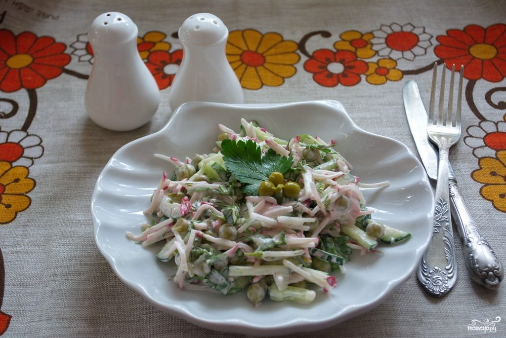 рецепты вкусных быстрых в приготовлении салатов