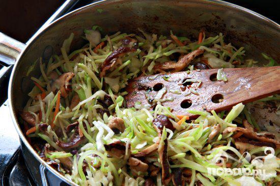 обжорка салат рецепт со свининой и грибами