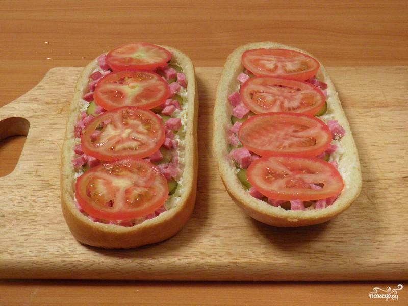 Домашняя пицца на батоне  - фото шаг 7