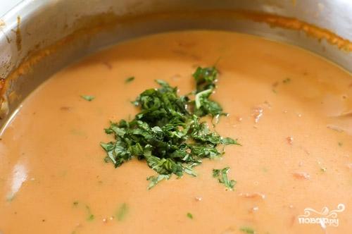 Суп с консервированными помидорами - фото шаг 7